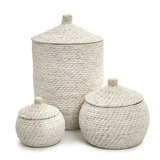 white Paul Costelloe Living Mia Storage Basket