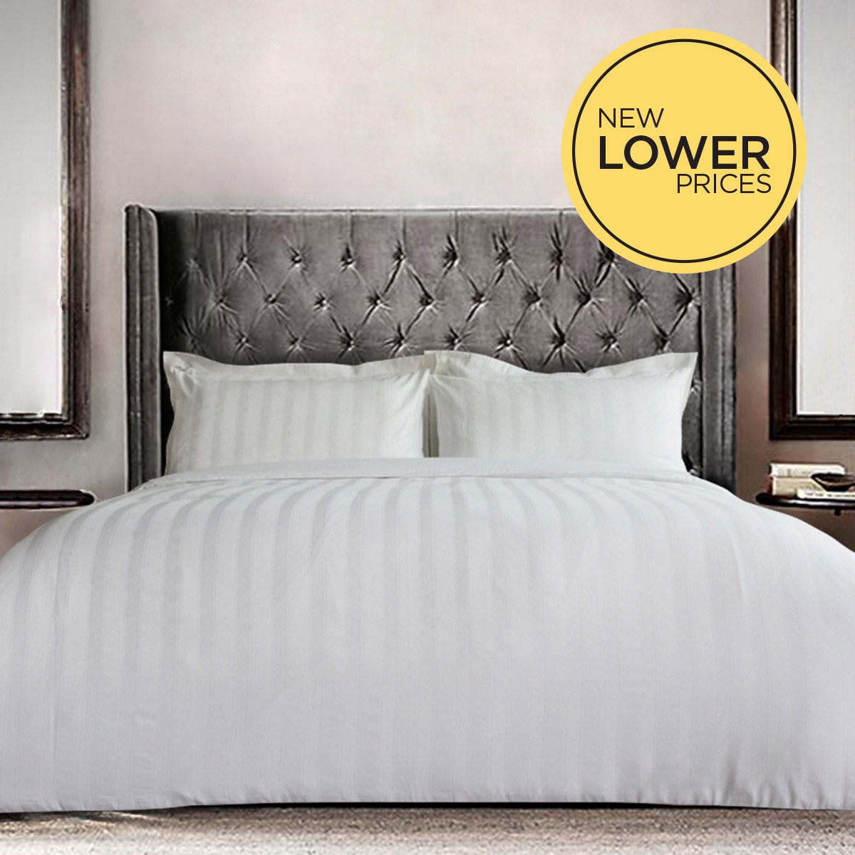 white Paul Costelloe Living Vittoria Duvet Cover