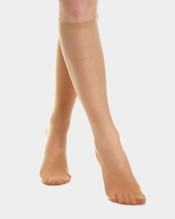 10 Denier Sandal Toe Knee Highs - 2 Pack