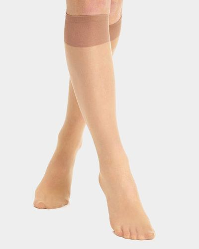 20 Denier Medium Support Knee Highs - 2 Pack thumbnail