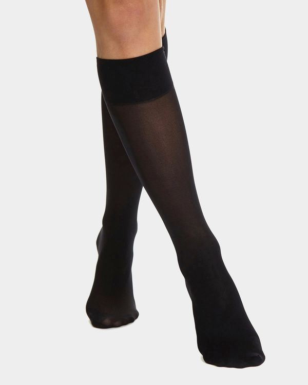 20 Denier Medium Support Knee Highs - 2 Pack