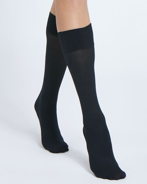 40 Denier Wide Fit Opaque Knee Highs - Pack Of 3