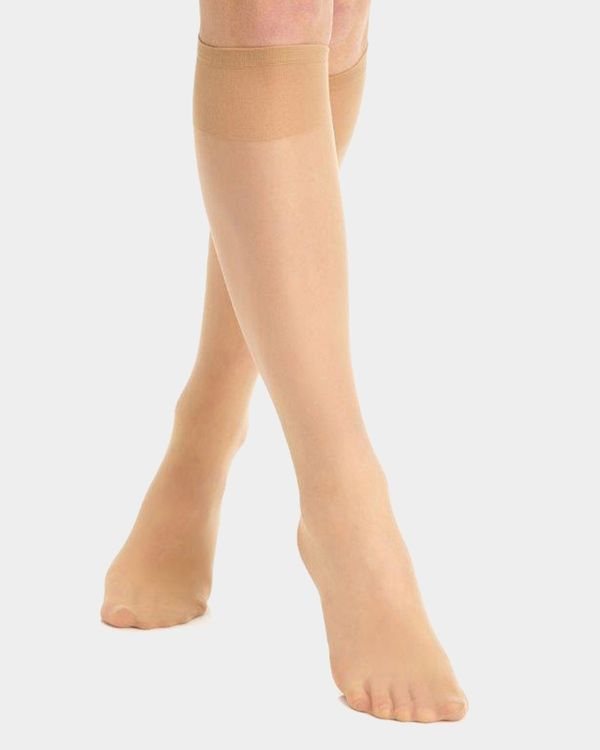 15 Denier Wide Fit Knee Highs - Pack Of 5