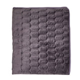 charcoal Paul Costelloe Living Quilted Throw