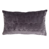 charcoal Paul Costelloe Living Quilted Boudoir Cushion
