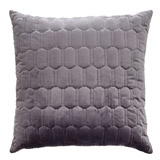 charcoal Paul Costelloe Living Quilted Euro Cushion