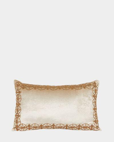 Paul Costelloe Living Beaded Boudoir Cushion