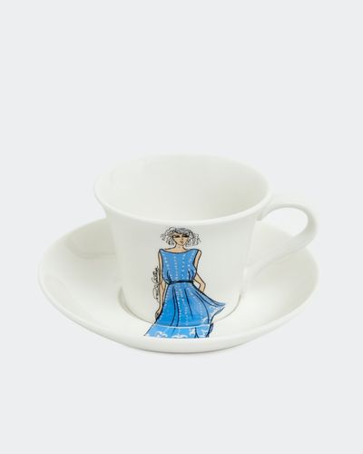 Paul Costelloe Living Lady Teacup And Saucer