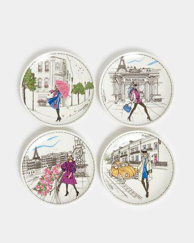 Paul Costelloe Living Lady Plate - Set Of 4 thumbnail