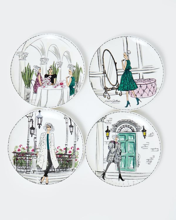 Paul Costelloe Living Lady Plate - Set Of 4