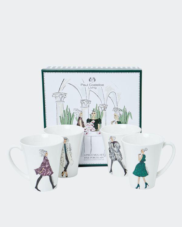 Paul Costelloe Living Lady Mug - Set Of 4
