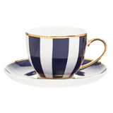navy Paul Costelloe Living Madison Cup And Saucer