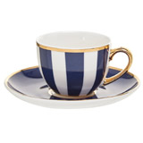 navy Paul Costelloe Living Madison Espresso Cup And Saucer