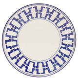 blue Paul Costelloe Living Azur Dinner Plate