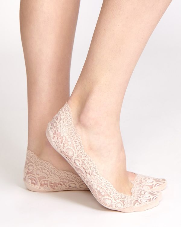 Lace Silicone Footies - Pack Of 2