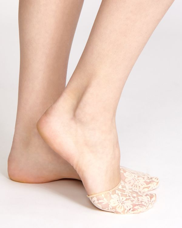 Lace Sole Pad Footies - Pack Of 3