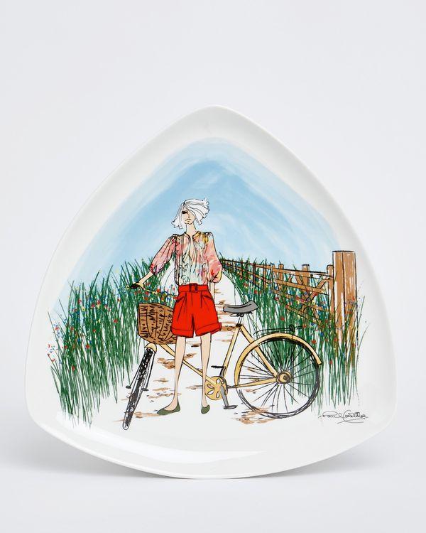 Paul Costelloe Living Triangular Lady Plate