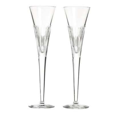 Paul Costelloe Living Crystal Flutes - Set Of 2 thumbnail