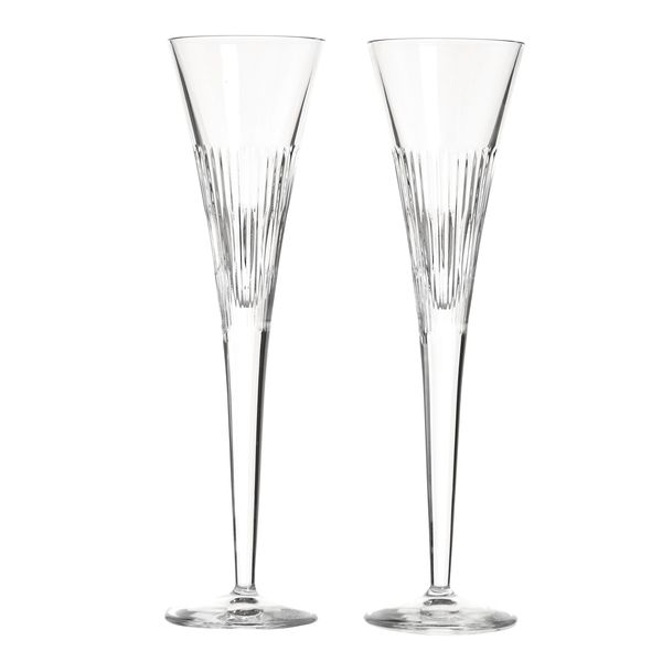 Paul Costelloe Living Crystal Flutes - Set Of 2