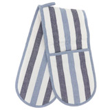 blue Paul Costelloe Living Stripe Double Oven Glove