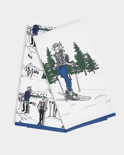 Paul Costelloe Living Ski Lady Tea Towel - Pack Of 2