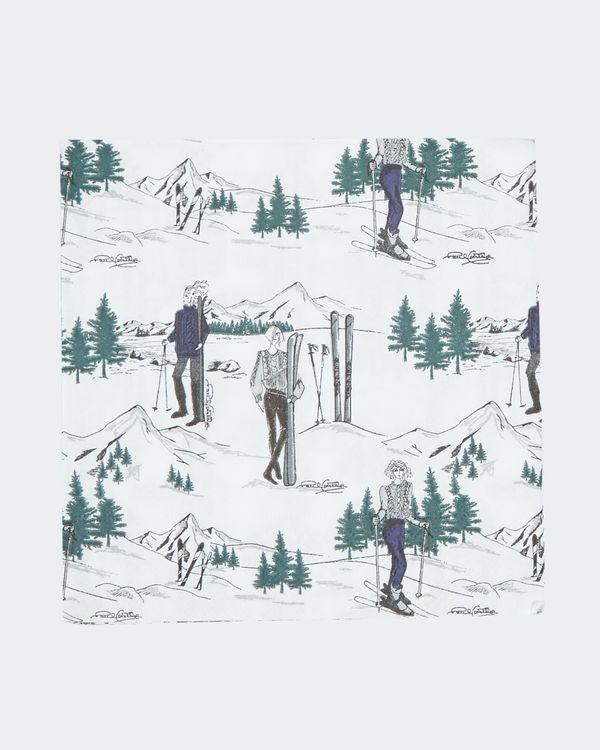 Paul Costelloe Living Ski Lady Napkin - Pack Of 20