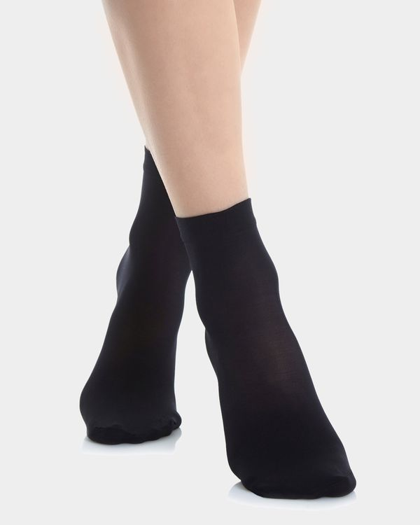 40 Denier Opaque Ankle Highs - Pack Of 3