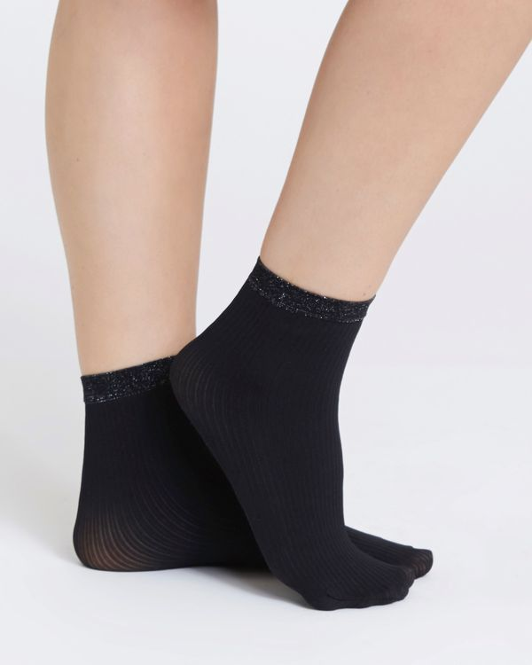 40 Denier Design Opaque Ankle Highs - Pack Of 3