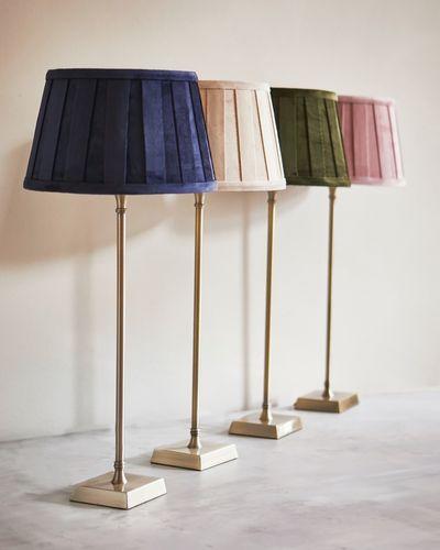 Paul Costelloe Living Velvet Pleat Shade Lamp