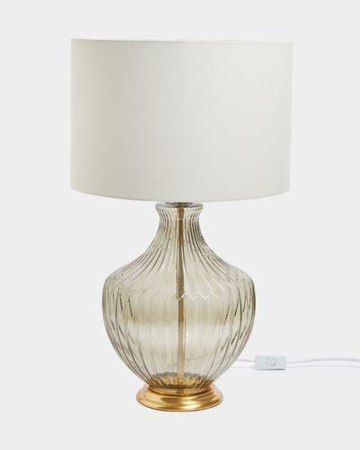 Paul Costelloe Living Smoked Glass Lamp
