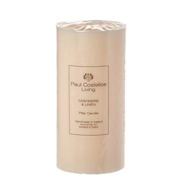 Paul Costelloe Living Scented Pillar Candle - 6x3in