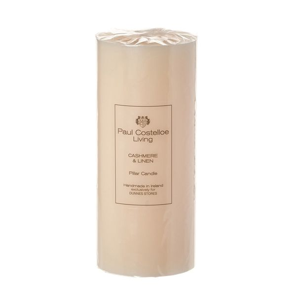 Paul Costelloe Living Scented Pillar Candle - 8x3in