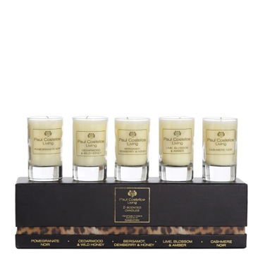 black Paul Costelloe Living Animal Print Candle Tumbler - 5 Pack