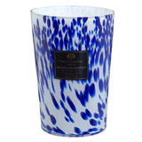 navy Paul Costelloe Living Speckled Glass Candle