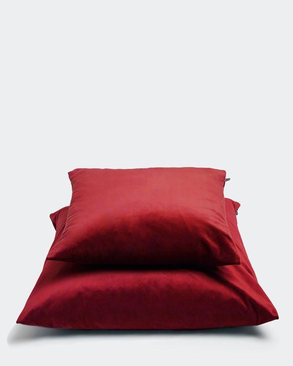 Paul Costelloe Living Red Velour Cushion