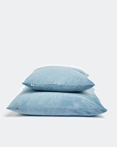 Paul Costelloe Living Blue Velour Cushion