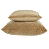 gold Paul Costelloe Living Velour Feather Filled Cushion