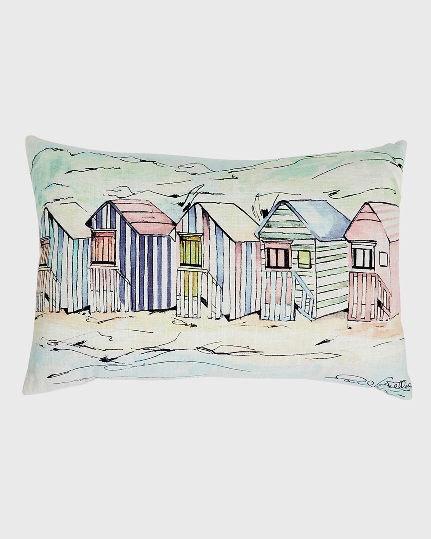 Paul Costelloe Living Beach Huts Cushion