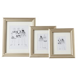 champagne Paul Costelloe Living Mounted Frame