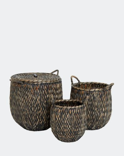 Paul Costelloe Living Woven Round Basket