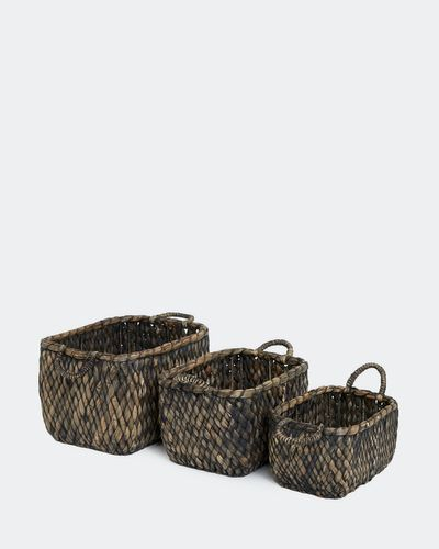 Paul Costelloe Living Woven Rectangle Basket thumbnail