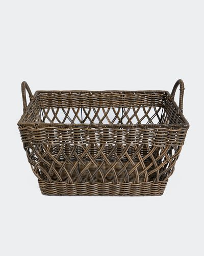 Paul Costelloe Living Rattan Rectangle Basket