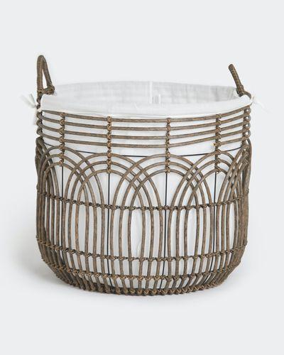 Paul Costelloe Living Rattan Round Basket thumbnail