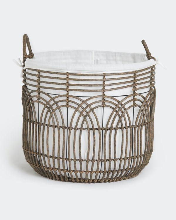 Paul Costelloe Living Rattan Round Basket