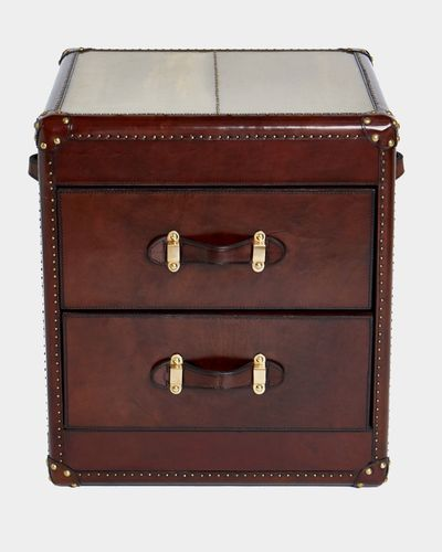Paul Costelloe Living Leather Bedside Table