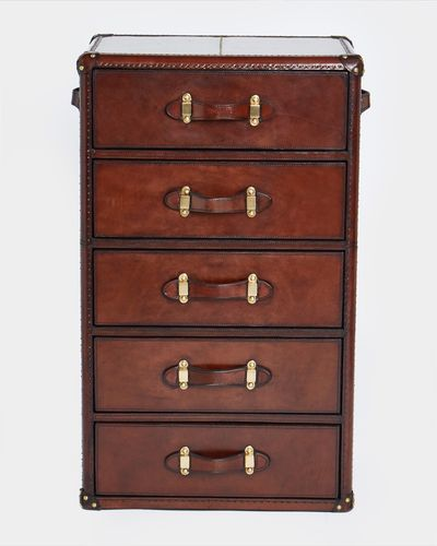 Paul Costelloe Living Leather Five Drawer Set