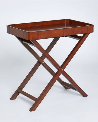 Paul Costelloe Living Leather Tray On Stand