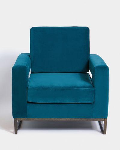 Paul Costelloe Living Teal Velvet Chair