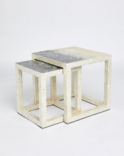 Paul Costelloe Living Mother Of Pearl Nested Table