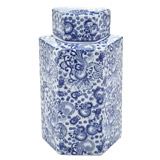 blue Paul Costelloe Living Porcelain Urn
